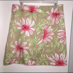 Talbots Size 14 Floral Skirt, Hawaiian